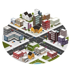 intersection in the big city vector image