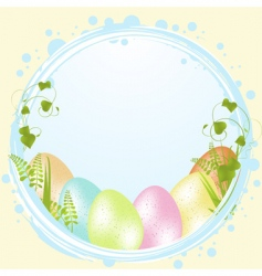 speckled Easter eggs and border vector image vector image