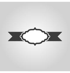 The label icon Ribbon symbol Flat vector image vector image