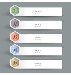White horizontal Design template vector image vector image