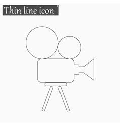 Camera icon Style thin line vector image