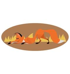 Cute sly fox vector image