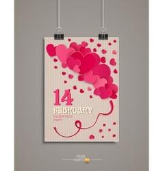 Festive background Valentines Day Vintage vector image vector image