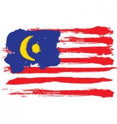 Malaysia grunge flag vector image vector image