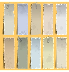 vertical old note papers vector image