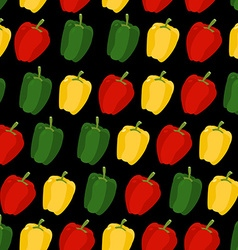 Background of sweet pepper seamless pattern of vector image vector image