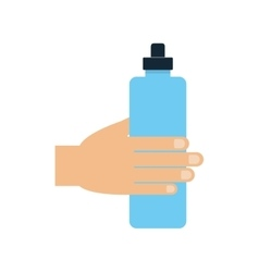 bottle water sport fitness gym icon vector image