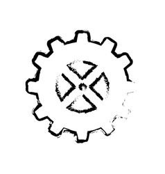 Isolated gear piece vector