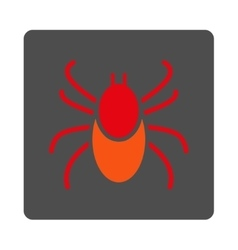 Mite rounded square button vector