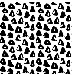 triangle hand drawn seamless pattern vector image