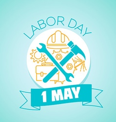 1 may labor Day vector image