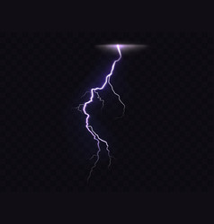 3d realistic of lightning vector image