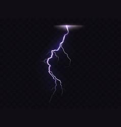 3d realistic of lightning vector