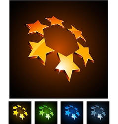 3d vibrant constellation emblems vector image