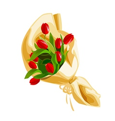 A view of a bouquet vector image