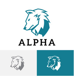 Alpha wolf strong mighty leader commander animal vector