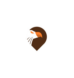 animal point logo icon design vector image