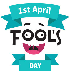 April fools day concept with text and funny muzzle vector