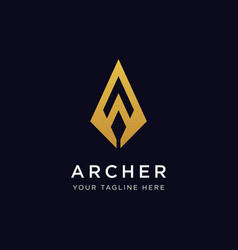 archer logo design inspiration vector image