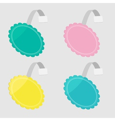 bbler set in shape of round flower Empty template vector image