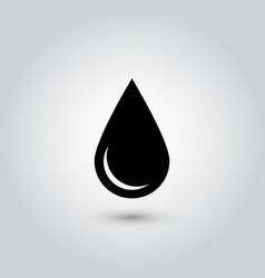 Black drop icon oil or water symbol simple flat vector