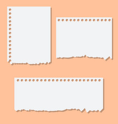 blank white torn reminder paper vector image