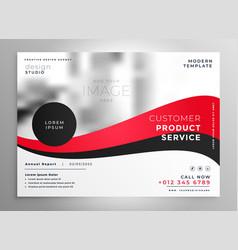 Brilliant red business brochure presentation vector