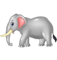 Cartoon african elephant isolated vector