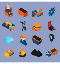 Coal Industry Isometric Set vector image