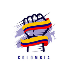 Columbia hand and flag template design vector