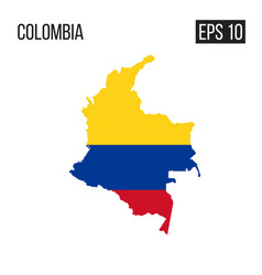 columbia map border with flag eps10 vector image