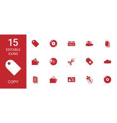 copy icons vector image