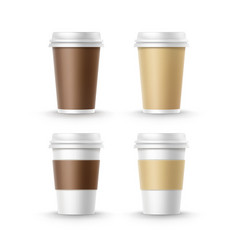 cups for and tea coffee vector image