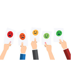 Customer service satisfaction survey form quality vector