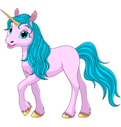 Cute young unicorn vector