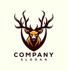 deer logo designs vector image