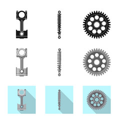 design of auto and part logo collection of vector image