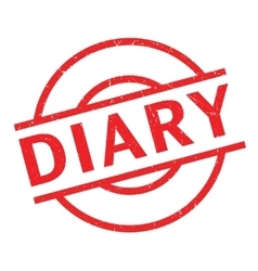 Diary rubber stamp vector image