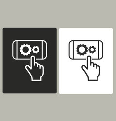 digital interaction - icon vector image