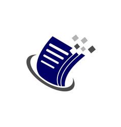 Document file paper data pixel logo vector