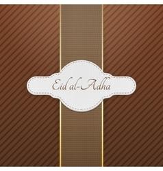 Eid al-Adha realistic greeting Tag vector