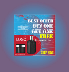 fashion offer cosmetic social media post vector image