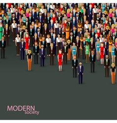Flat business or politics community crowd of vector