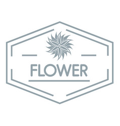 flower shop logo simple gray style vector image