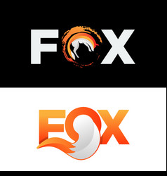 Fox wolf logo icon element isolated vector