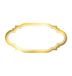 Gold frame simple golden style white vector image
