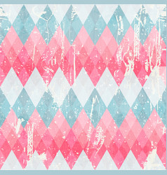 grunge vintage mosaic seamless pattern vector image