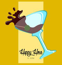 Happy hour poster vector