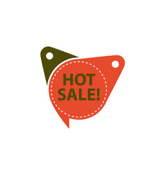 hot sale tag template isolated vector image