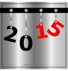 Industrial metal New Year greetings vector